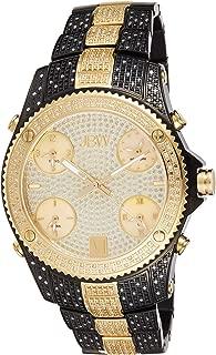 JBW Luxury Men's Jet Setter 234 Diamonds Five Time Zone Swiss Movements Watch - JB-6213-D