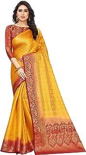 Satyam Weaves women's ethnic wear kanjivaram woven jacquard cotton silk saree (Bhaartii)