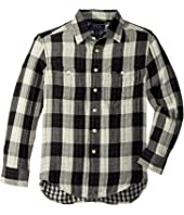 Polo Ralph Lauren Kids - Plaid Cotton Workshirt (Big Kids)