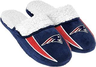 FOCO NFL Mens Team Logo Sherpa Slippers