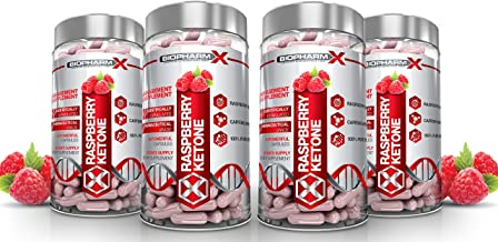 x4 Raspberry Ketone Capsules Advanced Diet Pills Fat Burner Formulation Maximum Strength 240 Capsules 4 Month Supply Estimated Price : £ 36,59