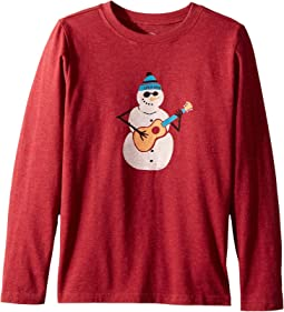Jammin' Snowman Long Sleeve Crusher Tee (Little Kids/Big Kids)