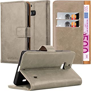 Cadorabo Book Case Compatible with Nokia Lumia 929/930 in Cappuccino Brown - with Magnetic Closure, Stand Function and Car...