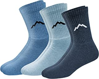 Ranger Sport Men's Heavy Duty Cotton Crew Athletic Socks, Pack of 3