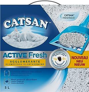 Catsan Active Fresh - Arena aglomerante para Gato–Control de olores–5l
