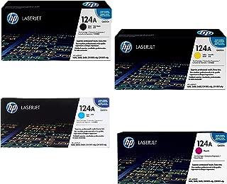 HP 124A Q6000A/Q6001A/Q6002/Q6003A 4 Colors Toner Cartridges For LaserJet 2600n 1600 2605 1015 1017 (Renewed)