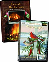 Winterscape/Fireside Reflections 2 pk