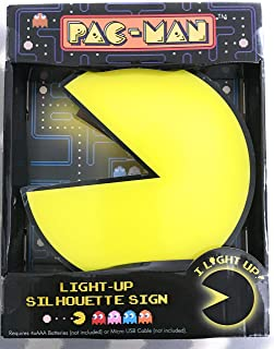 Pac-Man and Ghost Light up Silhouette Signs