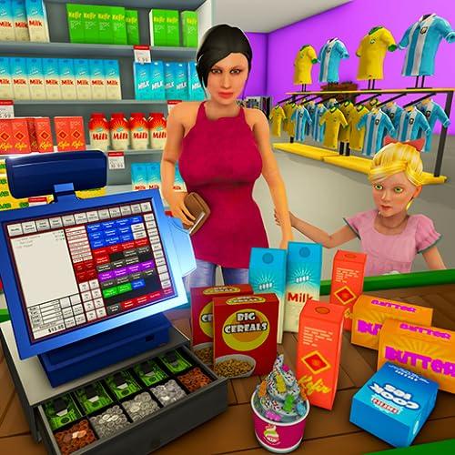 Supermarkt-Kassierer-Simulator: Einkaufsspiele