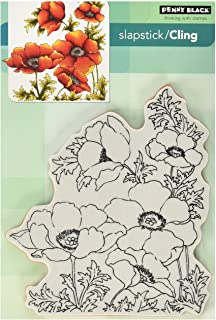 "Penny Black Cling Stamps 5""X7""-Poppy Gems (Pack of 1)"
