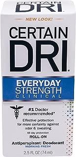 CERTAIN DRI Everyday Strength Clinical Roll On Antiperspirant/Deodorant Morning Fresh 2.5 oz (Pack of 3)