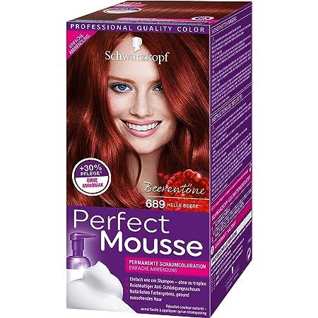 Schwarzkopf Perfect Mousse - Espuma de coloración permanente en espuma, nivel 3, 3 unidades (3 x 93 ml)
