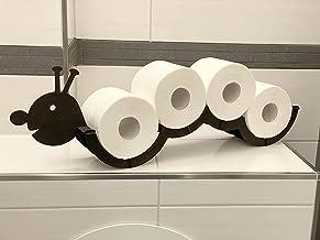 DanDiBo Wc-papierhouder hout zwart rups wc-papier houder muur toilet rolhouder reserverolhouder