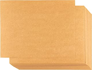 Kraft Paper - 100-Sheet Kraft Stationery, Printable Blank Note Cards for Inkjet and Laser Printers, 4 Cards Per Page 400 in Total, Perforated, 8.5 x 11 Inches