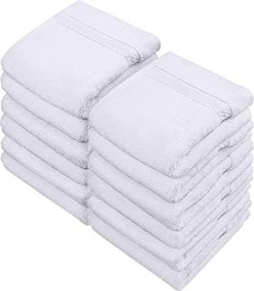 Utopia Towels - Lot de 12 Gants de Toilette, Ensemble de débarbouillette 700 GSM (30 x 30 cm, Blanc)