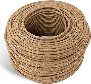 6/32 Fiber Paper Rush Coil, 236ft Kraft Brown for Craft Weaving Chairs Ladderbacks