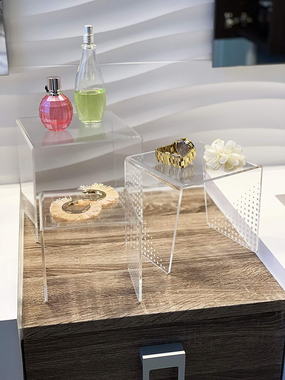 Idea Design Studio Clear Acrylic Display Riser Set – 3 Size