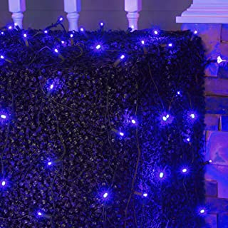 LED Blue Net Lights Outdoor LED Holiday Lights Net, Outdoor Decorative Lights Christmas Net Lights, Hedge Christmas Light...