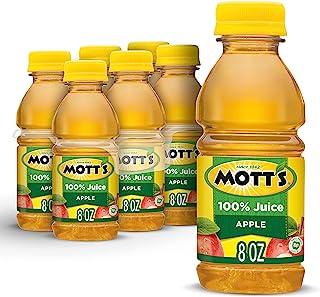 Mott's 100% Apple Juice, Original, 8 Ounce Bottles (Pack of 6)