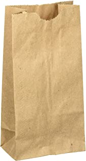 """WM Extra Small Brown Paper Bags 3 x 2 x 6"""" party favors, Paper Lunch Bags, Grocery Bag, wedding favor bags, Kraft bags, pa..."""