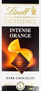 Lindt Excellence Orange Intense Chocolate, 100g