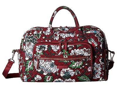 Vera Bradley Iconic Compact Weekender Travel Bag (Bordeaux Blooms) Weekender/Overnight Luggage