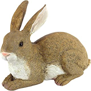 Design Toscano QM200861 ! Bashful, The Bunny, Lying Down Garden Rabbit Statue 10 Inch