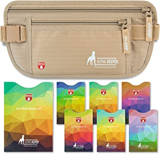 RFID Money Belt For Travel With RFID Blocking Sleeves Set for Daily Use [NEW MODEL]