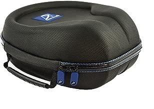 AHG Upgrade Carrying case for Sennheiser HD280/HD380PRO HD555 HD558 HD569 HD579 HD580 HD595 HD598 HD599 PC350 PC360 PC363D PXC350/450 Game One/Zero RS160 170 180 220 Headphones (Grip-TECH Black)