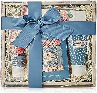 Cath Kidston Beauty Cottage Patchwork Pamper Hamper (100ml Hand Cream, 50ml Body Scrub, Box Set of four Bathing Salts, 75m...