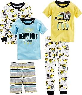 Carter's Baby Boys' 5-Piece Cotton Snug-fit Pajamas