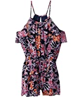 Ella Moss Girl - Ashley Printed Chiffon Romper (Big Kids)