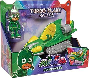 PJ Masks Vehículo Turbo-Gekko, Color Verde 2 (Bandai 24978 ...