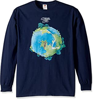 Liquid Blue Yes Fragile Album Cover Long Sleeve Graphic Tee