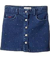 Embellished Denim Mini Skirt (Toddler/Little Kids)