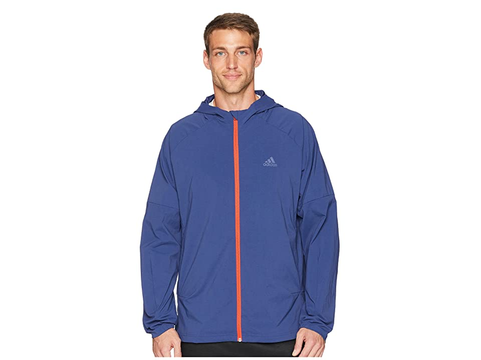 adidas Sport ID Full Zip Woven Hoodie (Noble Indigo) Men