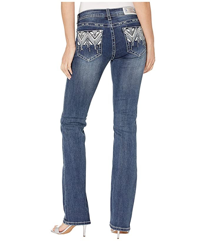 Grace in LA Aztec Embellished Jeans in Dark Blue (Dark Blue) Women's Jeans