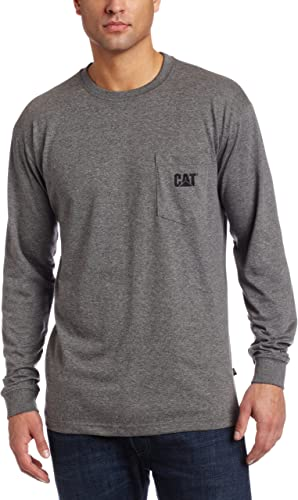 Caterpillar Big and Tall Hommes's Trademark Pocket manche longue Tee