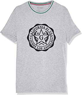 GUESS Men's Crew Neck Small Sleeve Seal T-Shirt