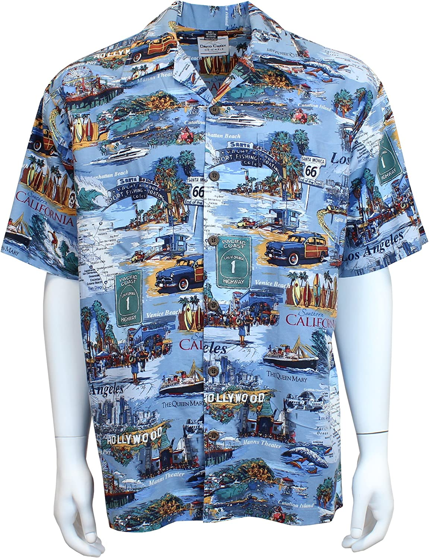 David Max 79% OFF Outstanding Carey SoCal Camp Shirt U Green – Blue Button