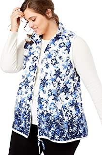 Woman Within Plus Size Microfleece Zip Front Vest