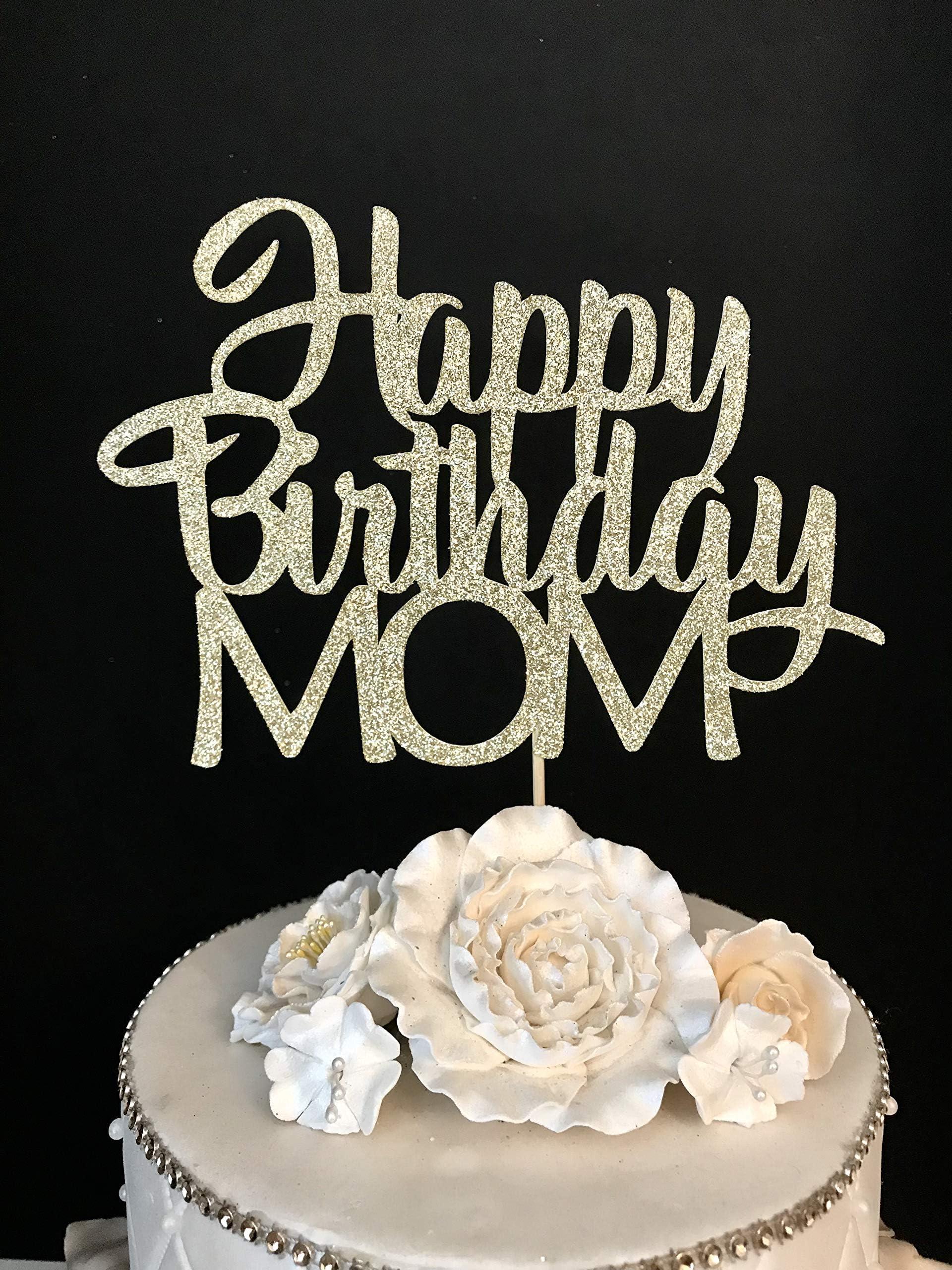 Custom Cake Topper Mother/'s Day Cake Topper Happy Mother/'s Day Glitter Cake Topper Glitter Cake Topper