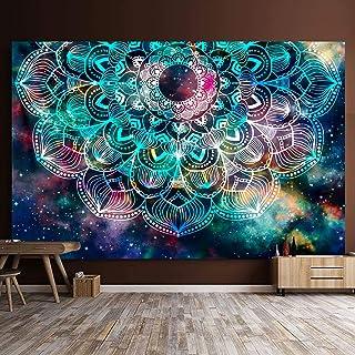 L:150x200CM GZGZADMC Tapisserie Coucher de Soleil Tapisserie Murales Soleil Murale Mandala Indien Boh/ème Hippie Couverture D/écoration Murale pour Chambre Salon Serviette de Plage