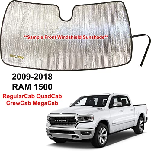 high quality YelloPro Custom Fit Front Windshield Sunshade Accessories UV Reflector Sun Protection for 2009 2010 2011 2012 2013 2014 2015 high quality 2016 2017 2018 Dodge RAM 1500 RegularCab QuadCab lowest CrewCab MegaCab online sale