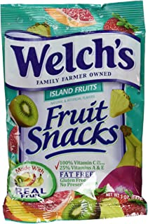 WELCH'S Fruit Snacks, Island Fruits, 5 Ounce