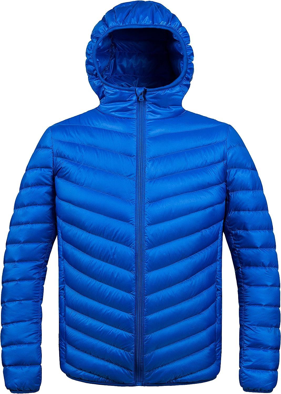 ZSHOW Men's Packable Down Max 56% OFF Jacket Lightweight Luxury goods Coat Winter Hooded
