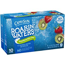 Capri Sun Roarin' Waters Strawberry Kiwi Surf Flavored Water, 10 ct - Pouches, 60.0 fl oz Box