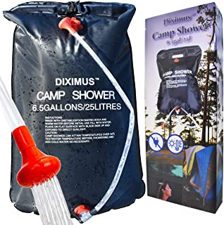Diximus Camping Shower - Outdoor Shower – Solar Shower Bag 6.5 Gallons - 25L - Portable Showers for Camp Traveling Hiking ...