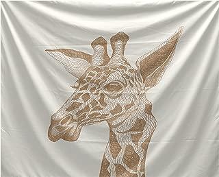 E by design La Jirafa Animal Print Tapestry 50 x 60 Almond Butter