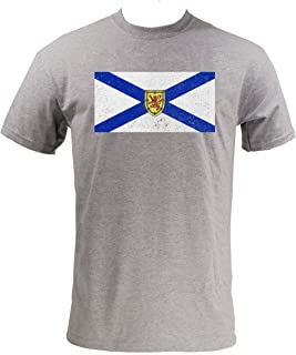 UGP Campus Apparel Nova Scotia Provincial Flag Mens T-Shirt - 2X-Large - Sport Grey